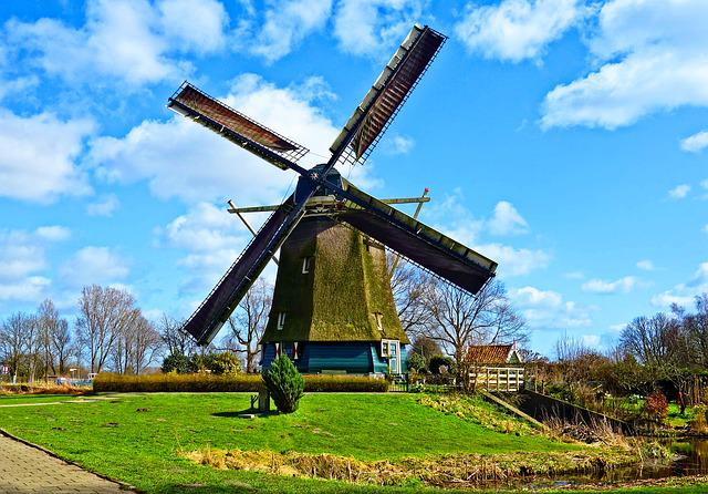 Dutch Windmill, Windmill, Historic Windmill, Historic