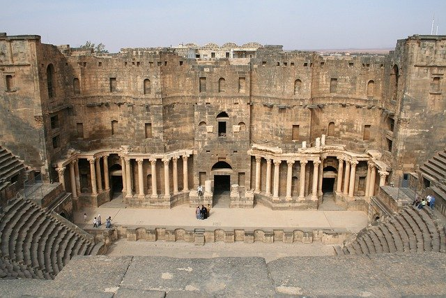 Syria, Bosra, Amphitheater, History, Historical