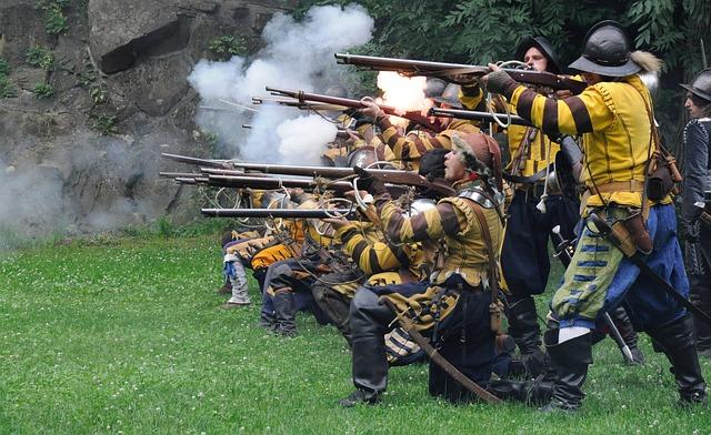 Battle, Historical Battle, Shooting, Historical Costume
