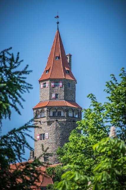 Castle Tower, Historical Landmark, Czech Republic