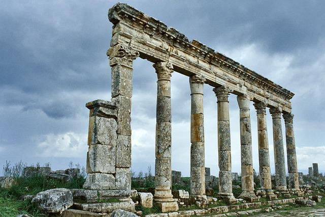 Syria, Apamea, Roman, Ruins, Historically, Colonnade
