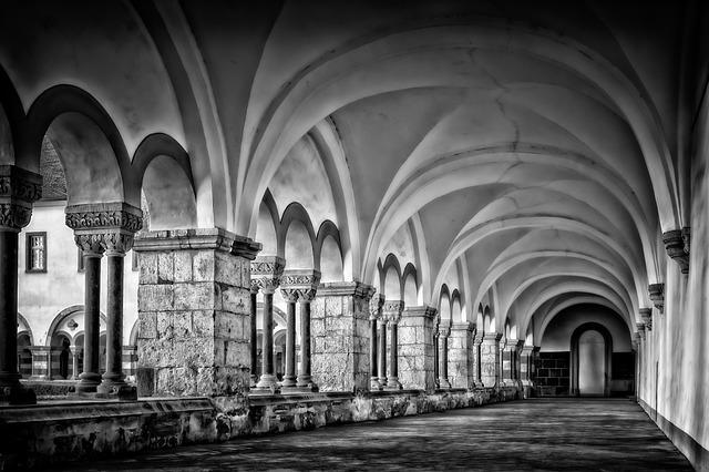 Cloister, Abbey, Romanesque, Monastery, Historically