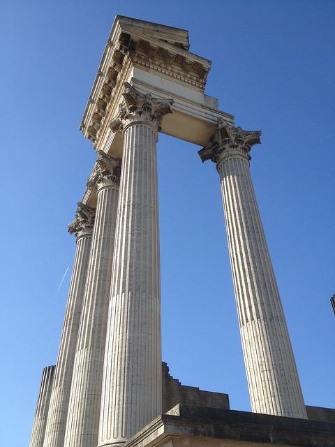 Roman, Columnar, Historically, Xanten, Germany