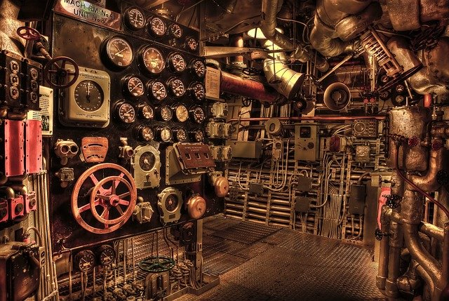 Battleship, Engine Room, Historic, War, Navy, History
