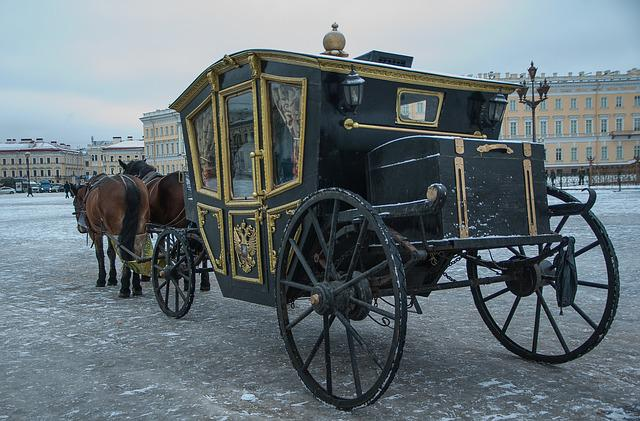 Russia, Saint-petersburg, Palace Square, Coach, Hitch