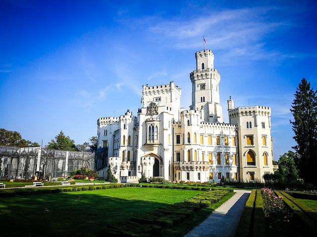 Hluboka, Castle, Hluboká, Architecture, South Bohemia
