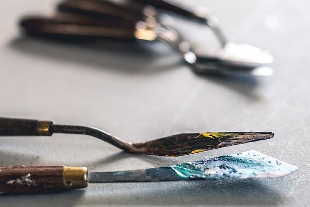 Palette Knife, Art, Hobby, Paint, Painting, Artistic