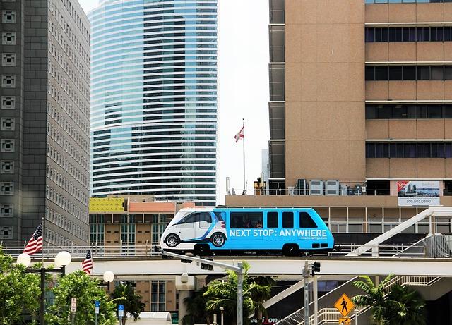 Miami, Miami Noriel Metromover, Hochbahn, Monorail