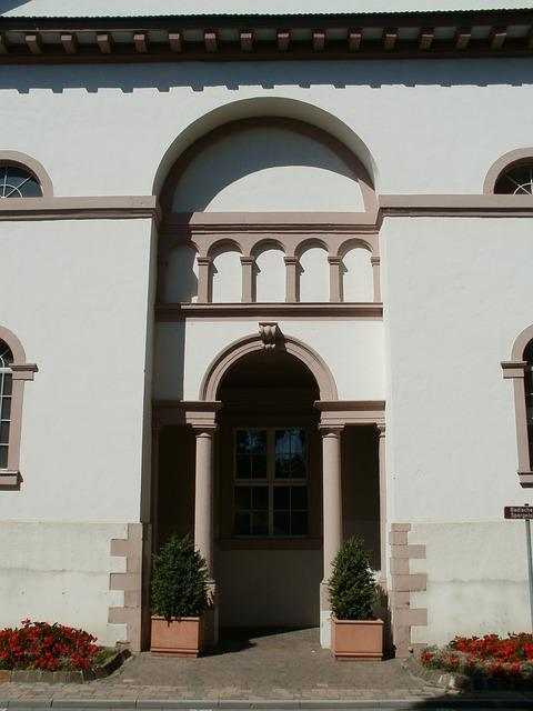 Christophorus, Church, Hockenheim, Entrance, Door