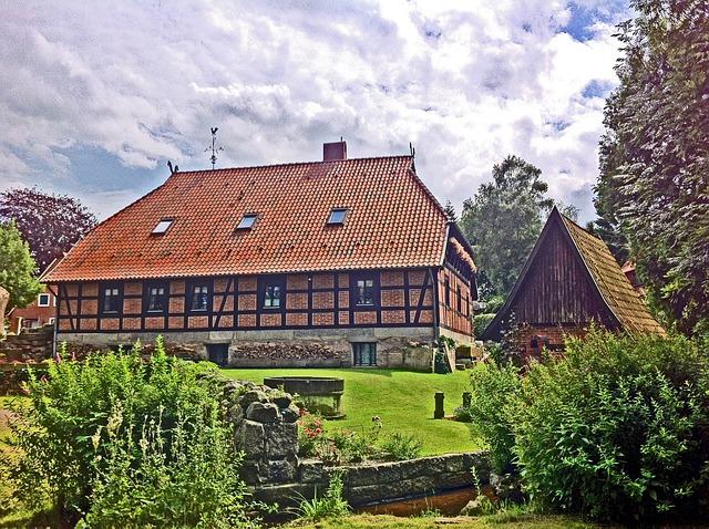 Farm, Lüneburg Heath, Hof, Agriculture, Agricultural