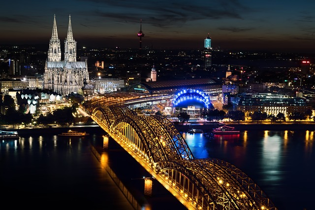 Cologne Cathedral, Hohenzollern Bridge, River
