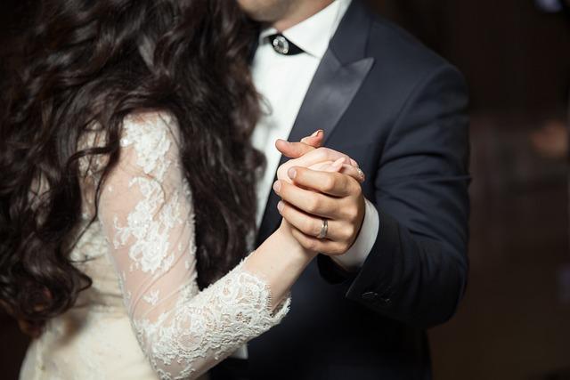 People, Man, Woman, Groom, Bride, Holding Hands, Ring
