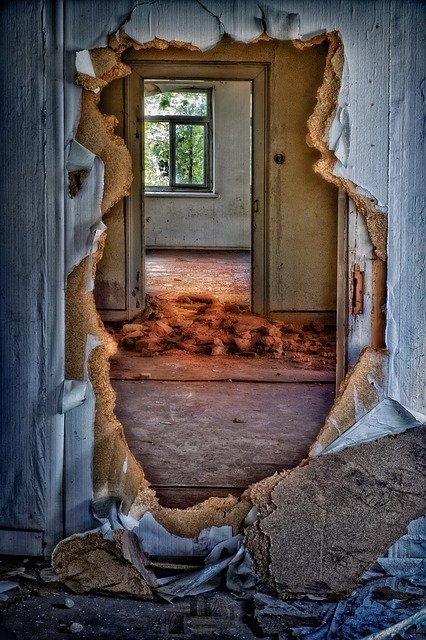 Abandoned, House, Ruins, Hole, Decay, Building