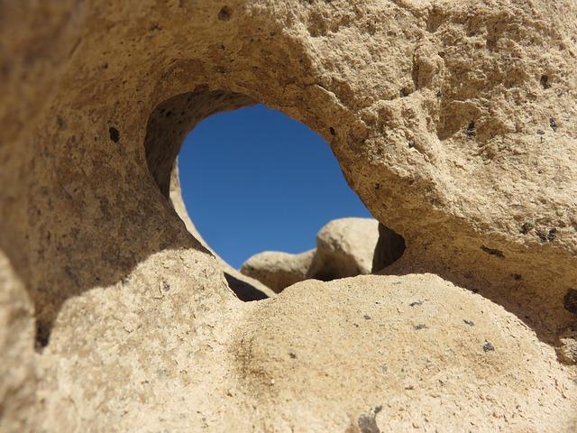 Stone, Hole, Fuerteventura, Nature
