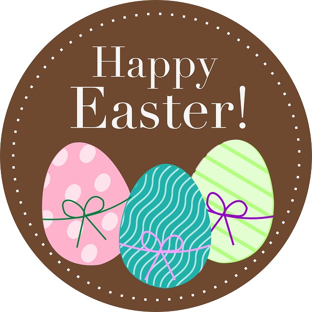 Happy, Easter, Spring, Eggs, Holiday, Dotted