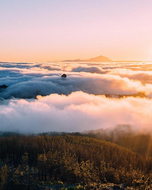 Holiday, Landscape, Landmark, Vacation, Sunset, Fog