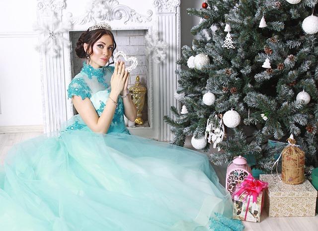 Princess, Christmas Tree, New Year, Christmas, Holiday