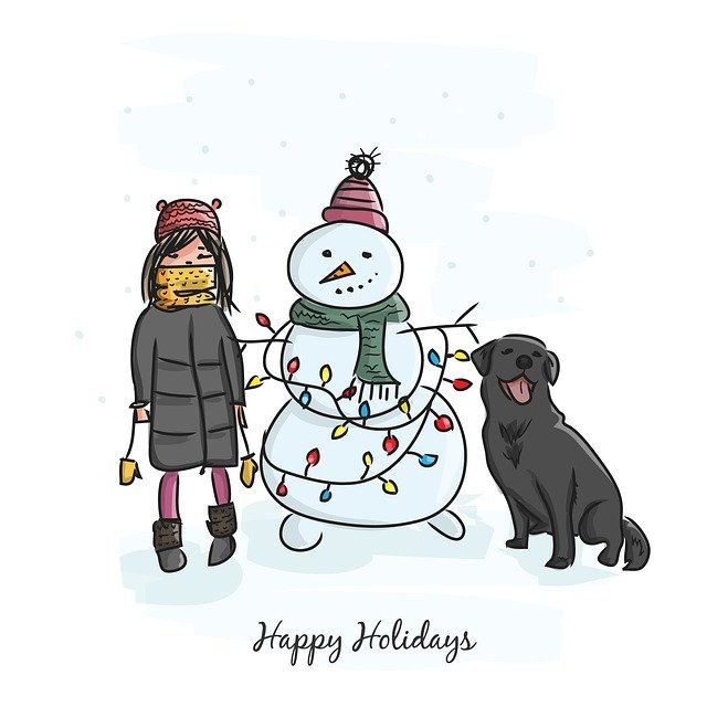 New Year's Eve, Christmas, Holiday, Winter, Postcard