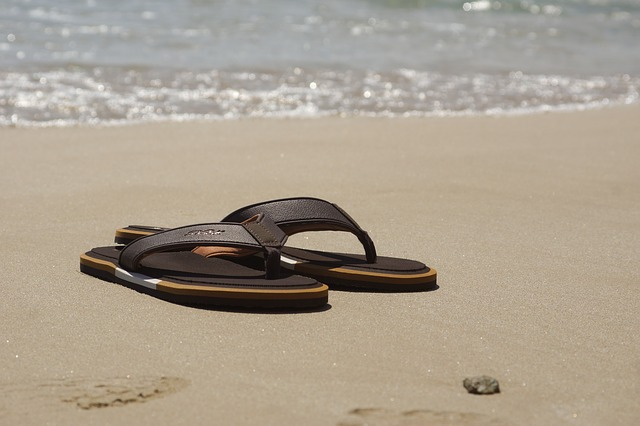 Holiday, Summer, Beach, Coast, Sea, Water, Shoes