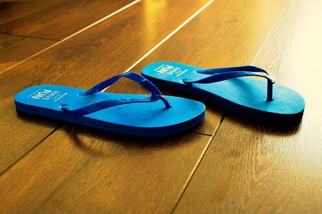 Flip Flops, Summer, Blue, Beach, Sandal, Holiday