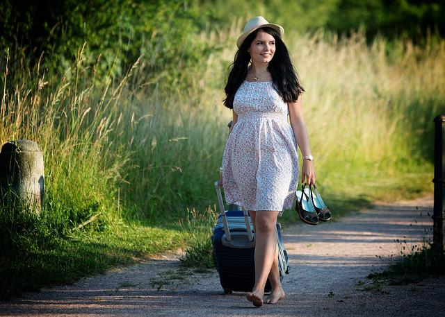 Girl, Summer, Dress, Pretty, Woman, Travel, Holiday