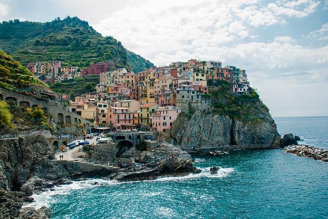 Cinque Terre, The Sun, Holidays, Clouds, Sky, Landscape
