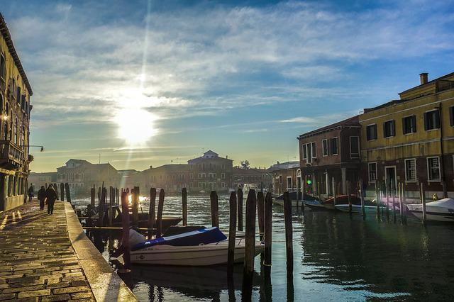 Venice, Murano, Waterway, Sunset, Italy, Holidays