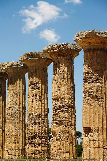 Column, Selinunte, Sicily, Holidays, Landscape
