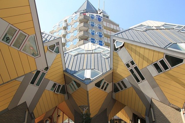 Rotterdam, Cube Houses On Stilts, Holland