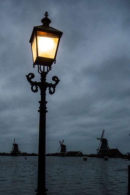 Lantern, Zaandam, Water, Mill, Holland, Traditional