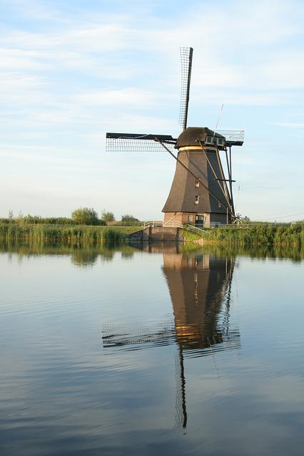 Mill, Kinderdijk, Holland, Netherlands, Tourism