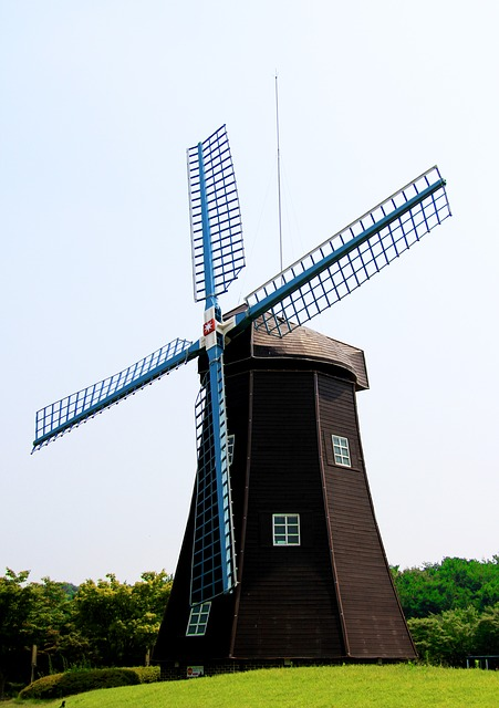 Windmill, Holland, Energy, Country, Vintage, Scenery