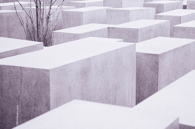 Holocaust Memorial, Historic, Concrete, Berlin, Blocks