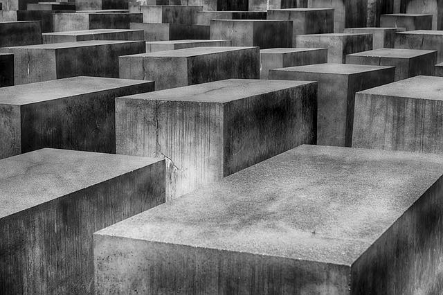 Memorial, Concrete Blocks, Concrete, Holocaust, Berlin