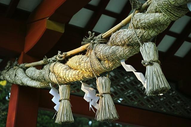Shimenawa, Shrine, Holy, Japan
