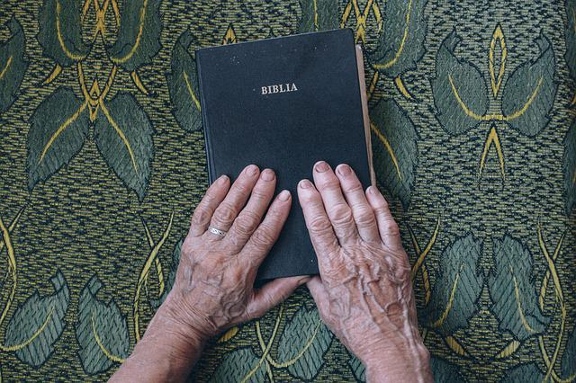 Bible, Book, Design, Elderly, Fingers, Hands, Holy, Old