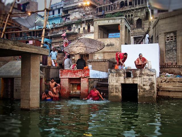 India, Ganges, Bathing, River, Indians, Holy River