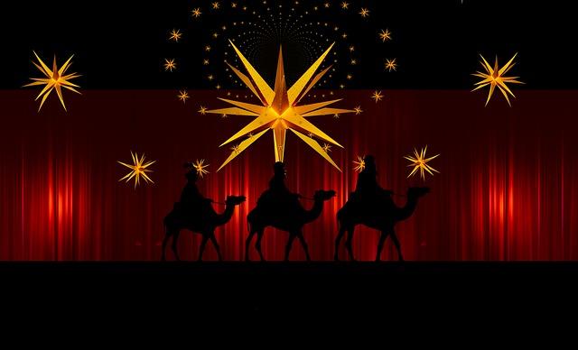 Advent, Star, Curtain, Holy Three Kings, Kings, Camel