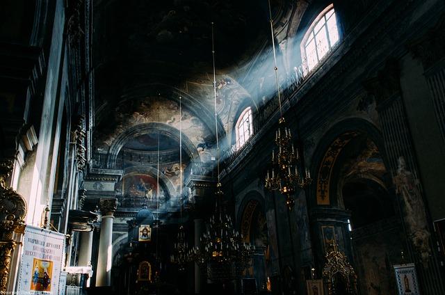 Ukraine, Temple, Light, Diagonal, Church, Window, Holy