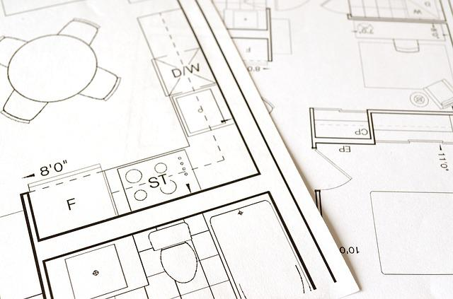 Floor Plan, Blueprint, House, Home, Construction