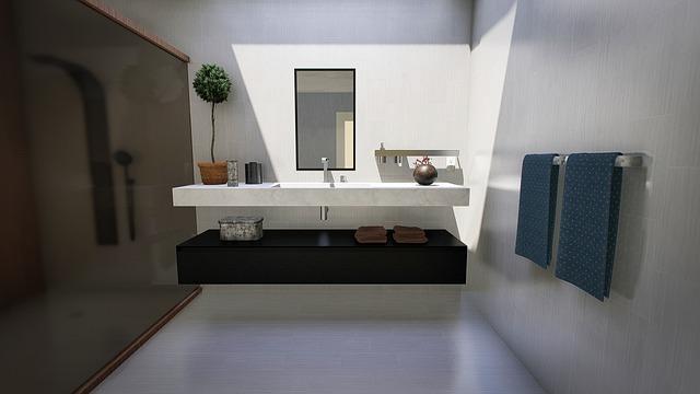 Bathroom, Modern, Design, Lighting, Interior, Home