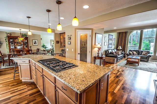 Kitchen, Home, Real Estate, Living Room, Residential