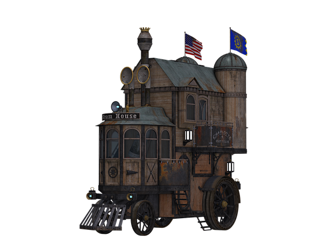 Steampunk, Lock, Fantasy, Home, Traveling Home