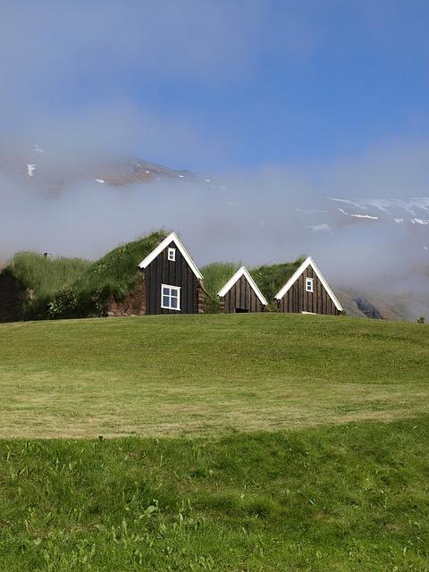Iceland, Landscape, Home, Torfhaus