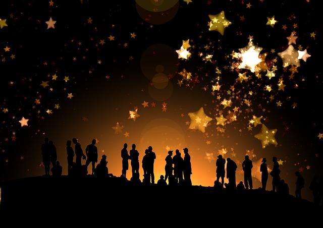 Night, Star, Sky, Silhouettes, Human, Homes, Marvel