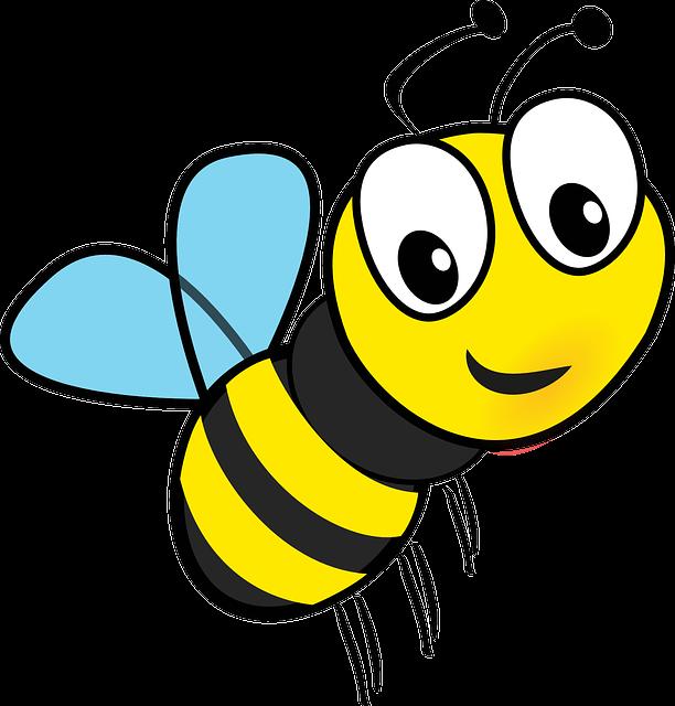 Honey, Bee, Flying, Insect, Honeybee, Buzz, Cartoon