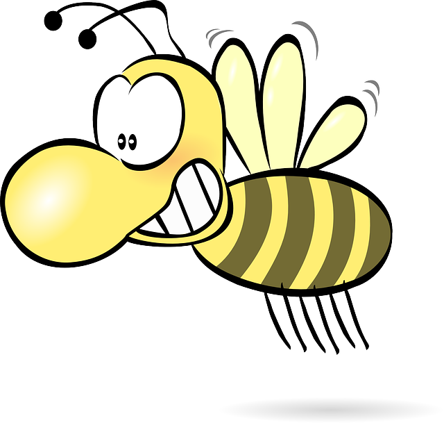 Bee, Honey, Wasp, Hornet, Funny, Cute, Comic, Insect