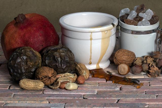 Still Life, Fruits, Nuts, Passion Fruit, Food, Honey