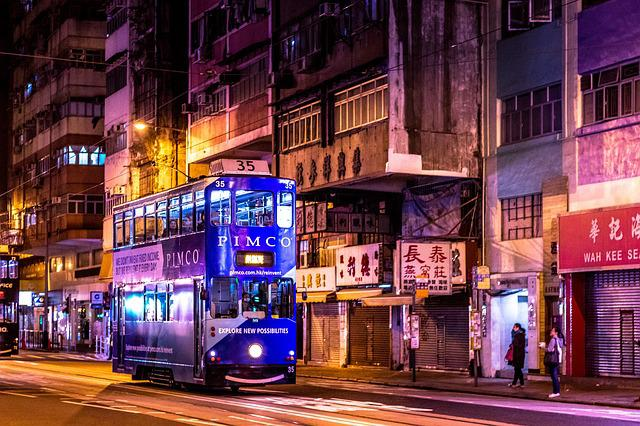 Hong Kong, Night, City, Cityscape, Skyline