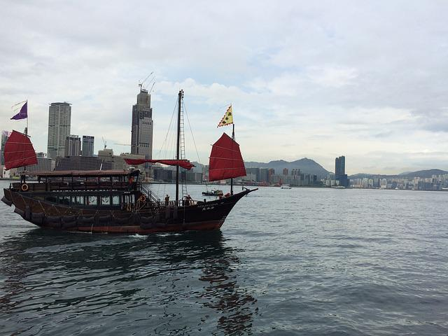 Hong Kong, Sailing Ship, Sea